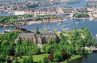 Nordic Museum - The Nordic Museum as seen from Kaknästornet.