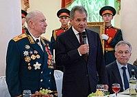 Dmitry Timofeyevich Yazov, Sergey Shoigu, Arkady Bakhin 01.JPG