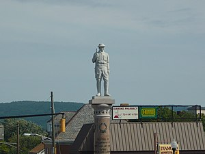 Mount Pleasant, Pennsylvania - Doughboy Statue West Main Street and Diamond Street