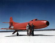 Douglas D-558-I with pilots Carl and Cladwell 1947