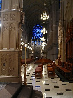 DownView CathedralBasilicaSH / Cathedral Basilica of the Sacred Heart (Interior), Newark, NJ