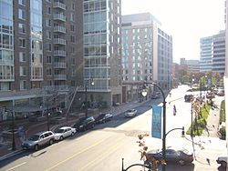 Downtown Silver Spring's Wayne Avenue, in October 2007.