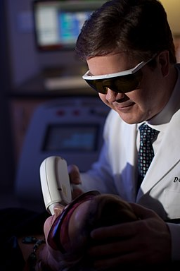 Dr. Braun works with the Soprano laser for hair removal