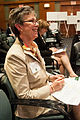 Dr. Catherine Woteki responds with a smile to a comment made by one of the panelists during the second day of the two day G-8 International Conference on Open Data for Agriculture in Washington, D.C..jpg