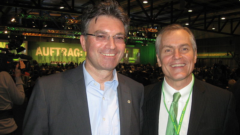 Dr. Dieter Salomon , Green Party Mayor Freiburg Germany Carey Campbell Independent Green Party.JPG