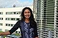 Dr. Hiranya Peiris standing outside the AlbaNova building in Stockholm Sweden.jpg