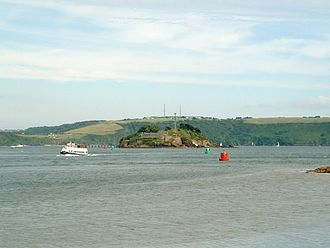 Drake's Island - Drake's Island as seen from Mount Edgecumbe
