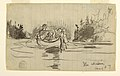 Drawing, Canoe with Three Men - Ile Maligne, Quebec, Canada, August 27, 1897 (CH 18174585).jpg