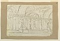 Drawing, Stage Design, Entrance to Antique Hall, early 19th century (CH 18542659).jpg