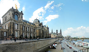 Dresden Academy of Fine Arts - The Dresden Academy of Fine Arts on Brühl's Terrace, view of the front side