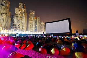 Arab cinema - 20m wide inflatable projection screen at the 2010 Dubai International Film Festival.