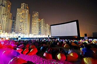 Arab cinema - 20m wide inflatable projection screen at the 2010 Dubai International Film Festival.