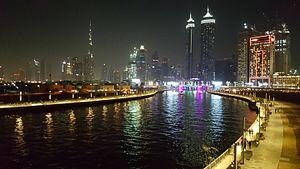 Dubai Water Canal - Dubai Water Canal - a night view
