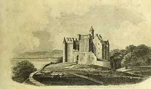 Dunrobin Castle - Dunrobin Castle as it appeared in about 1813, before later improvements