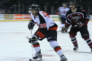 Medicine Hat Tigers - Travis Dunstall playing for the Medicine Hat Tigers