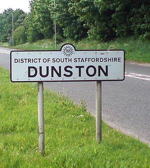 Dunston, Staffordshire - Dunston village sign, May 2008