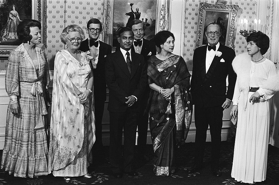 Dutch Royal Family meets Ziaur Rahman and wife 1979