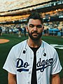 Dylan Scott Pre National Anthem at a Dodgers Game.jpg
