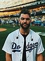 Dylan Scott Pre National Anthem at a Dodgers Game.jpg