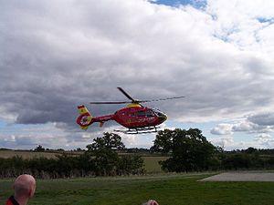 Strensham services - The air ambulance