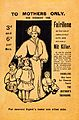EPEMERA; To mothers only; for nursery use; F Wellcome L0031554.jpg