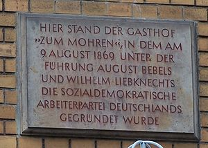Gedenktafel für die Gründung der SDAP