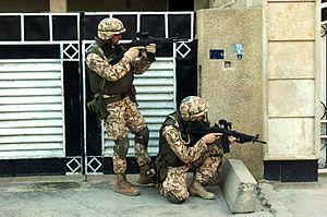 Estonian Defence Forces - Estonian soldiers in Iraq.