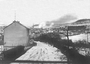 Revolution of 1848 in Luxembourg - View of Ettelbruck, the centre of the uprising, in 1944