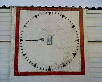 Earlsmead Stadium - Image: Earlsmead Clock