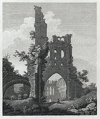 East View of Llanthony Abbey