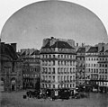 Eastern bays of the Galerie Nord with the Hôtel de Nantes and some of the former houses on the Place du Carrousel in Paris in 1850 – Christ 1949 Fig131.jpg