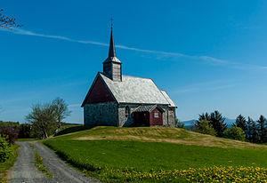 Smøla - View of the Old Edøy Church