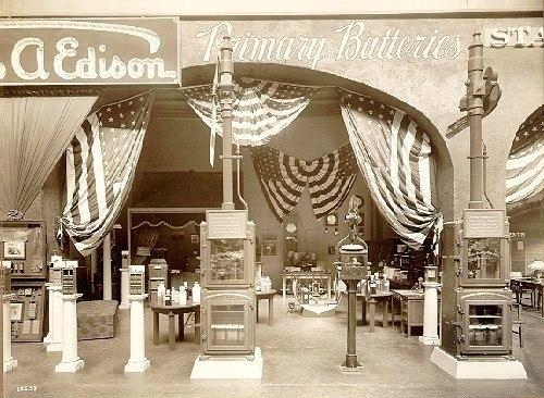 Edison battery exhibit, 1915