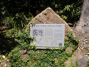 Edna Walling - Edna Walling Memorial Garden in Buderim, Queensland. Walling retired to Buderim in the 1960s, designing a number of local gardens there.