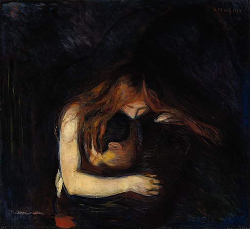 Edvard Munch - Vampire (1894), private collection