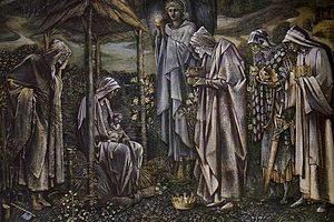 Star of Bethlehem (painting) - Design for tapestry The Adoration of the Magi, 1887