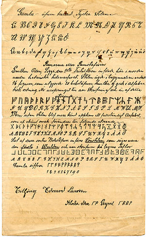 Edward Larsson's rune cipher resembling that f...