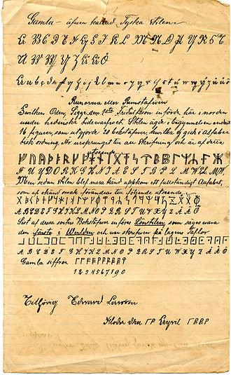 Cipher - Image: Edward Larsson 1885 I