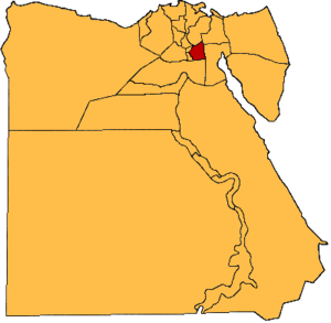 Helwan Governorate - Location of the now defunct Helwan Governorate within Egypt