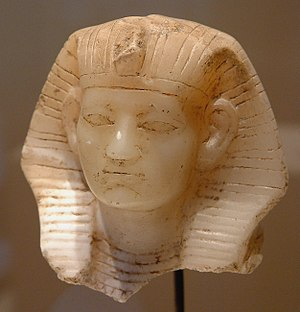 Amenemhat III - Statuette head of Amenemhat III, now in the Louvre