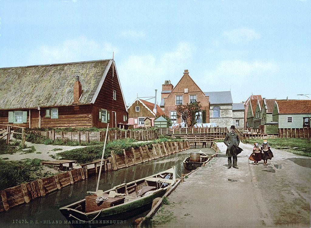 L'île de Marken en 1900.
