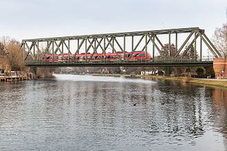 Jüterbog–Nauen railway - Havel bridge near Caputh