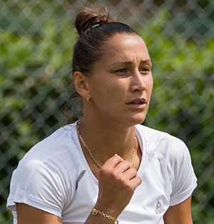 Ekaterina Bychkova - Bychkova at the 2015 Wimbledon<br/>qualifying tournament