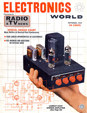 Electronics World 1959, home assembled amplifier Electronics World Sep 1959.jpg