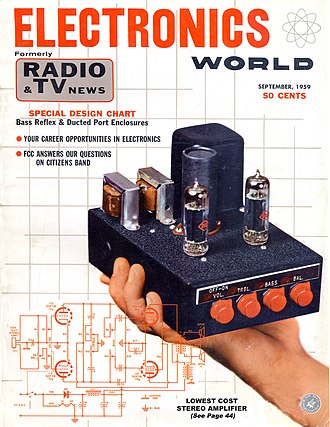 Do it yourself - Electronics World 1959, home assembled amplifier