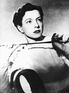 Ilona Elek Hungarian fencer