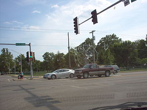 Jacksonville, Illinois - Big Eli Wheel on corner of E. Morton and S. Main