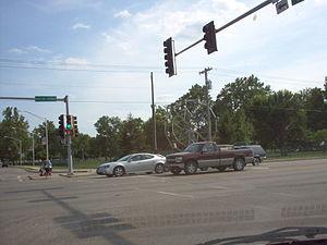 Jacksonville, Illinois - Big Eli Wheel on corner of E. Morton and S. Main