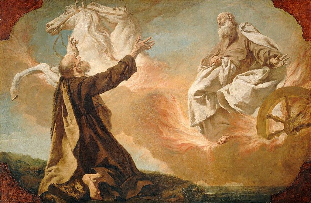 불병거를 타고 승천하는 엘리야 (쥐세페 안젤리, Giuseppe Angeli, 1740년경)