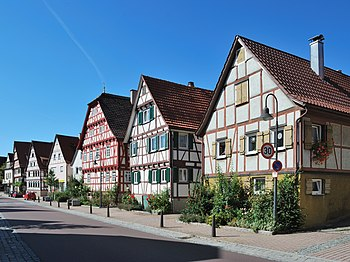 The Carl-Schmincke-Straße in Eltingen, a distr...